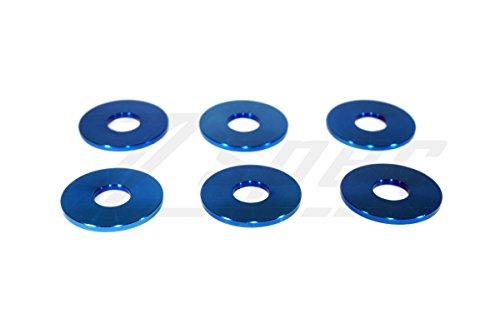 ZSPEC Titanium, Grade 5, M6 Fender Washer, 8-Pack, Blue