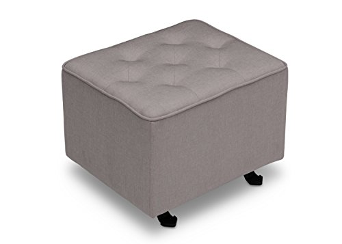 Delta Children Diamond Tufted Gliding Ottoman, French Grey