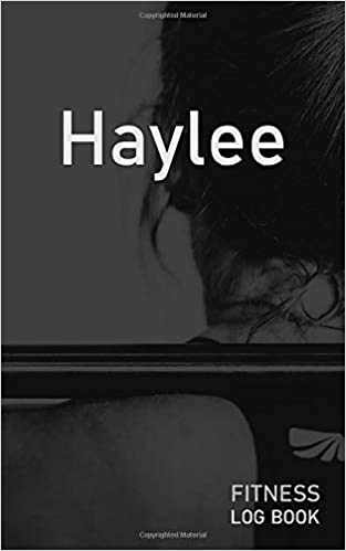 haylee blank daily fitness workout log book track exercise type
