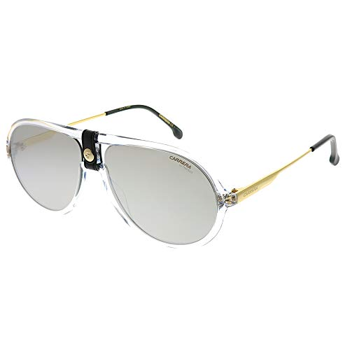 - Carrera 1020/S Crystal/Silver Lens Mirror Sunglasses