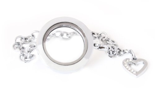 ver No Stone Dangling Charm Circle Bracelet) by BG247 ()