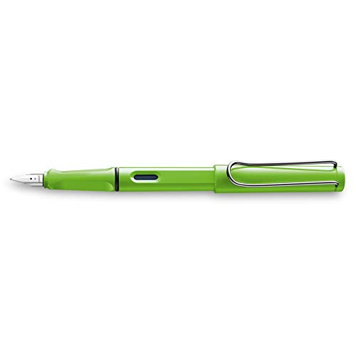 Lamy Safari Fountain Pen, Green, Fine Point (L13GNF)