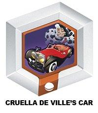 Disney Infinity Series 3 Power Disc Cruella De Ville's Car (from 101 Dalmatians) (Cars Infinity)