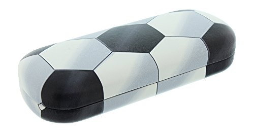 Hard Shell Eyeglass Case For Boys & Girls, Kids Small Glasses Case, Soccer Ball