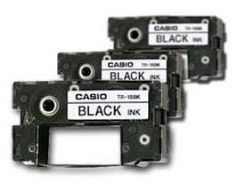 Casio Cw 50 Ribbon (Casio Black Ribbons for All CW Disc Title Printers, 3 Pack TR-18BK-3P)