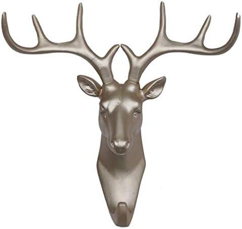 ST-ST クリエイティブ鹿ヘッドウォールは、リビングルームの装飾ベッドルームガーデンバスルームキッズルームウォールマウント17.5x 10x16.5cm服フックフック