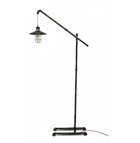 Lampadaires Lampe de plancher, plomberie industrielle vent salon pêche lampadaire, Loft créatif vieux restaurant LED verticale lampe de chevet taille: 53 * 28 * 200cm lampe sur pied