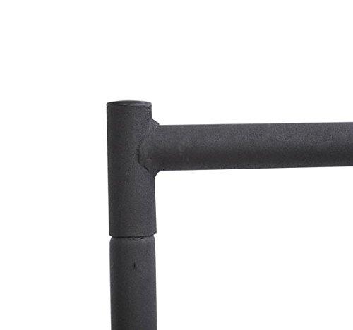 Homcom Portant Tringle a Vetements Acier Charge Max 140kg 180x60x150cm Noir