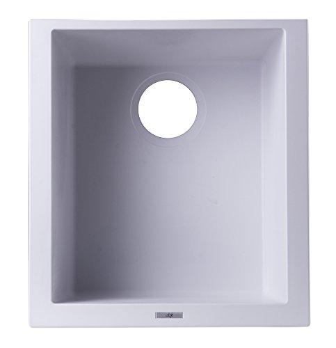 ALFI brand AB1720UM-W Undercount Rectangular Granite Composite Kitchen Prep Sink, 17