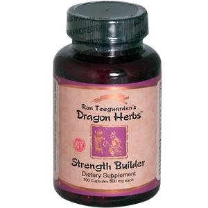 Dragon Herbs Strength Builder — 100 Vegetarian Capsules For Sale
