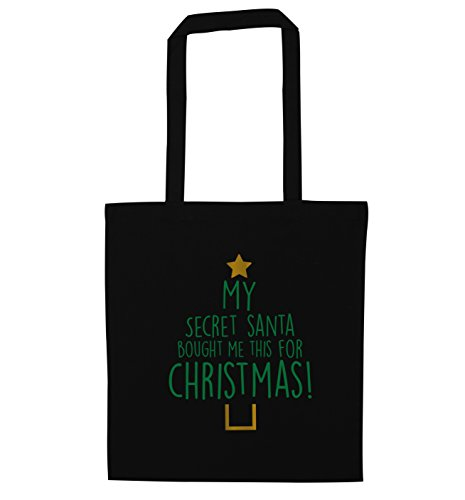 Black christmas santa tote for this My bought me bag secret w4HqxZzz6