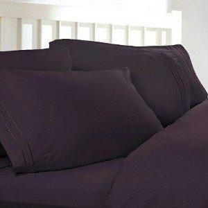 Amazon.com: Twin XL Extra Long Sheets: Plum Purple, 1800 Thread ...