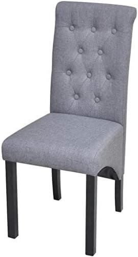 Roderick Irving Lot de 2 chaises de Salle à Manger en Tissu Gris foncé 42 x 55,5 x 95 cm