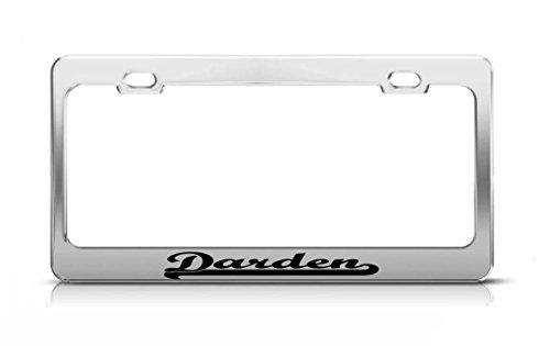 darden-last-name-ancestry-metal-chrome-tag-holder-license-plate-cover-frame
