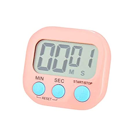 Heligen_Temporizadores de Cocina Magnético Digital Cocina Reloj con Gran Pantalla LCD Alarma Temporizador de Timbre Alto