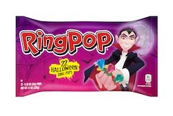 Halloween Trick or Treating Candy - Ring Pops 22 Count -