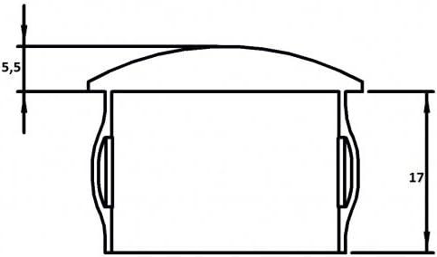 hohl mit Nasen Einschlagstopfen leicht gew/ölbt f/ür Rohr /ø 30,0 x 1,6-2,6mm