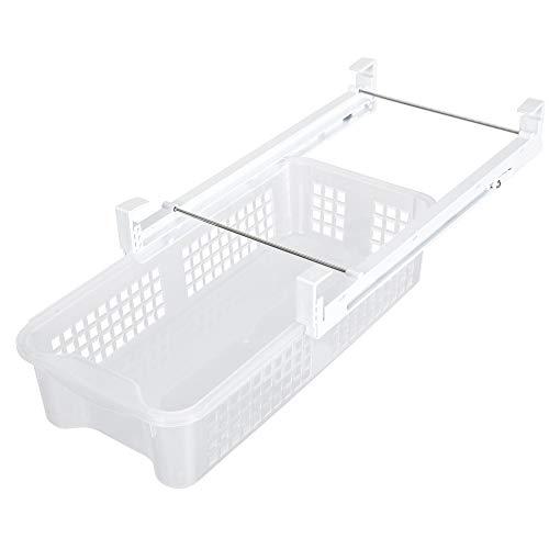 Smart Design Refrigerator Pull Out Bin & Home Organizer w/Extendable Rails & Handle - BPA Free - for Fridges & Freezers Food Storage - Kitchen (Medium) ()