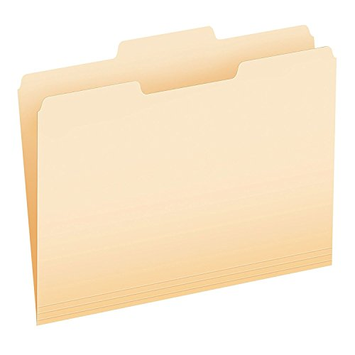 (Pendaflex Essentials File Folders, Letter Size, 1/3 Cut, Position 2, Manila, 100 per Box (752 1/3-2) 2-Pack )