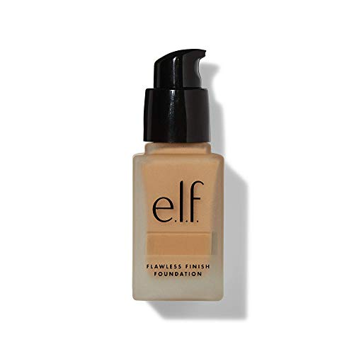 e.l.f, Flawless Finish Foundation, Lightweight, Oil-free formula, Full Coverage, Blends Naturally, Restores Uneven Skin Textures and Tones, Nude, Semi-Matte, SPF 15, All-Day Wear, 0.68 Fl Oz