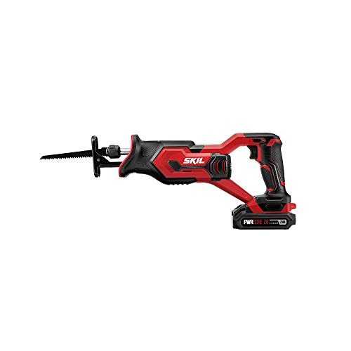 SKIL 20V Compact Reciprocating Saw, Includes 2.0Ah PWRCore 20 Lithium Battery and Charger – RS582902