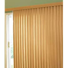 Made-to-Order Fauxwood Vertical Blinds, Woodlooks Fauxwood Verticals, 78W x 84H, Pearl White
