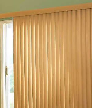 Made-to-Order Fauxwood Vertical Blinds, Woodlooks Fauxwood Verticals, 78W x 81H, - Sliding For Blinds Doors Bamboo