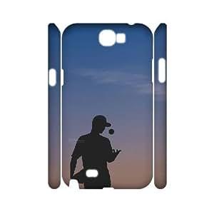 kimcase Custom fire baseball 3D Case for Samsung Galaxy Note2 N7100