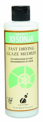 - Jo Sonja's Fast Drying Glaze Medium, 8 Ounce Bottle