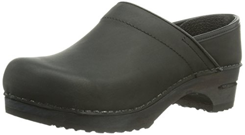 Sanita Jamie Wood Clogs Black