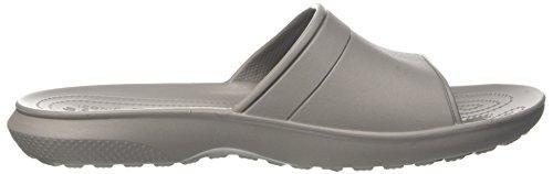 Crocs Unisex Classic Slide Sandale Rauch