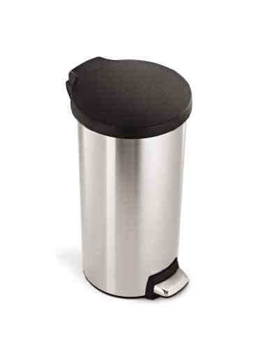 ep Trash Can, Stainless Steel, Plastic Lid, 30 L / 8 Gal ()