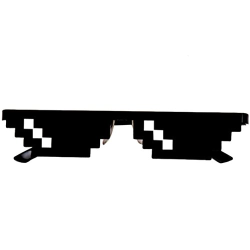 OUBAO 2017 Thug Life Glasses 8 Bit Pixel Deal With IT Sunglasses Unisex Sunglasses - Meme Sunglasses