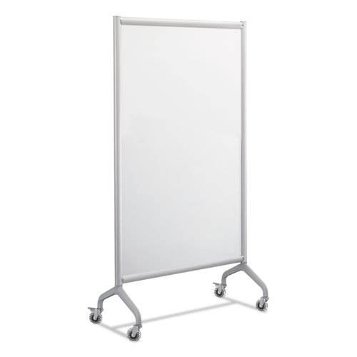 Safco Products 2016WBS Rumba Full Panel Collaboration Screen Whiteboard 36 x 66, Gray Frame
