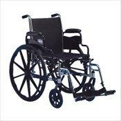 Invacare IVC Tracer SX5 Wheelchair w Legrest BLACK 20 in Seat Width Flipback by Invacare Invacare Legrest