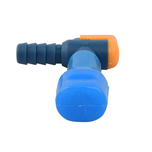 AXEN ON-OFF Switch Bite Valve Tube Nozzle Replacement For Hydration Pack Bladder (Blue-90 degree,2 in 1 pack)