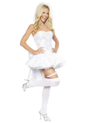 Bride Costume For Women (Roma Costume 4 Piece Fantasy Bride Costume, White,)