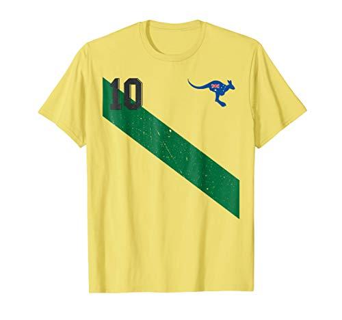 - Vintage Australia Soccer Jersey Aussie T-Shirt 10 with Sash