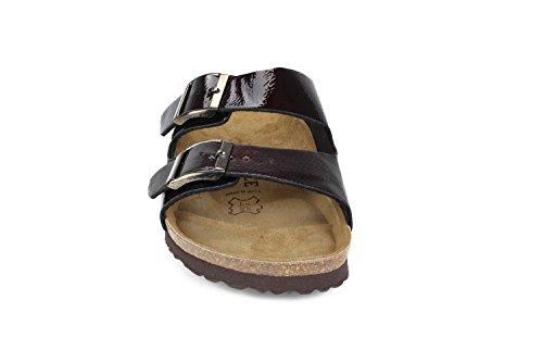JOE N JOYCE London Synsoft Soft-Fußbett Sandalen Bordeaux Größe 42 Schmal