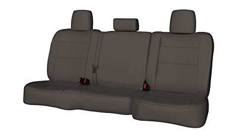 Rear SEAT: ShearComfort Custom Waterproof Cordura Seat Covers for Chevy Impala (2014-2019) in Gray for 60/40 Split Back Solid Bottom w/Pullout Arm and Adjustable Headrests and Side Bolsters - 40 Impala