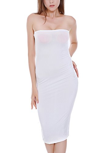 Vestido de Cóctel de la mujer tubo Elegante Bodycon White