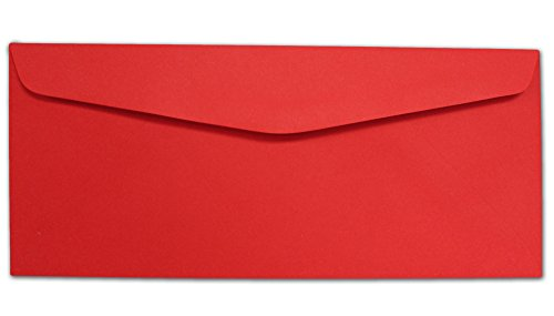 Red #10 Envelopes - 100 Envelopes - Desktop Publishing Supplies™ Brand Envelopes (Red Business Envelopes)