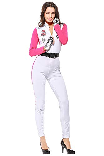 - Boomtrader Sexy Racer Cosplay Costume for Women Adult Halloween Speed Race Girl Jumpsuit Costumes
