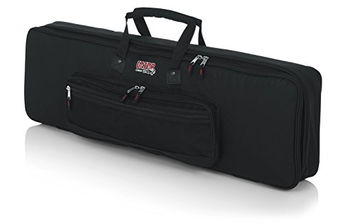 - Gator Cases Padded Keyboard Gig Bag; Fits Slim Line 61 Note Keyboards (GKB-61 SLIM)