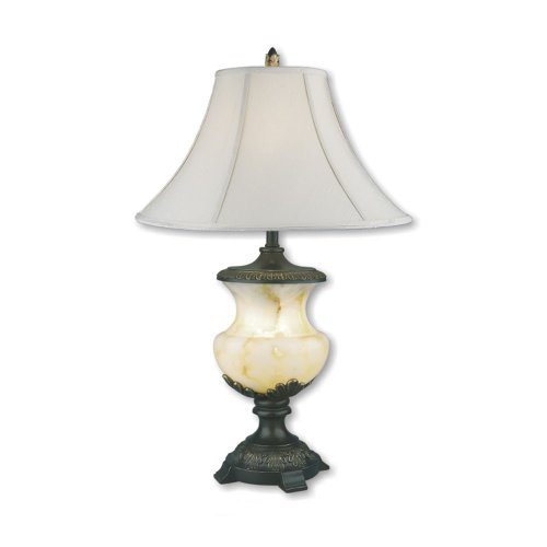 Ore International 32 In Pineapple Antique Gold Table Lamp: ORE International 8193 32-Inch Alabaster Table Lamp With