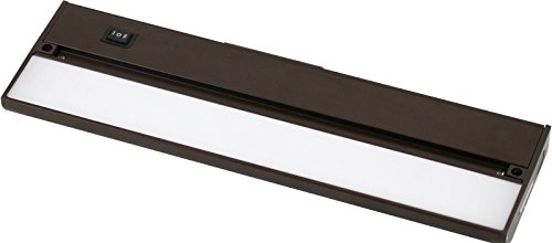 Brown Grad Lens - Under Cabinet LED 220 Lumen Light Hard Wire Linkable with Knock Outs Contractor Electrician Grade ETL - L-6 Series (Brown-9