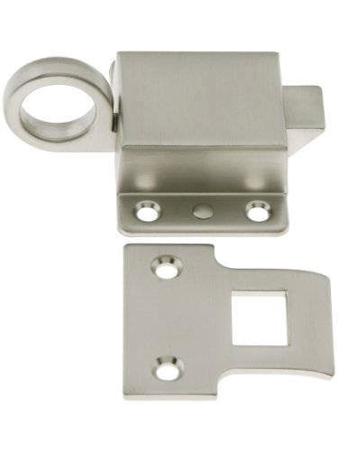 Solid Brass Transom Window Latch Satin Nickel ()