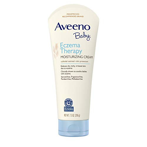 Aveeno Baby Eczema Therapy Moisturizing Cream with natural Colloidal Oatmeal and Dimethicone for Dry Skin and Baby Eczema Relief, 7.3 oz