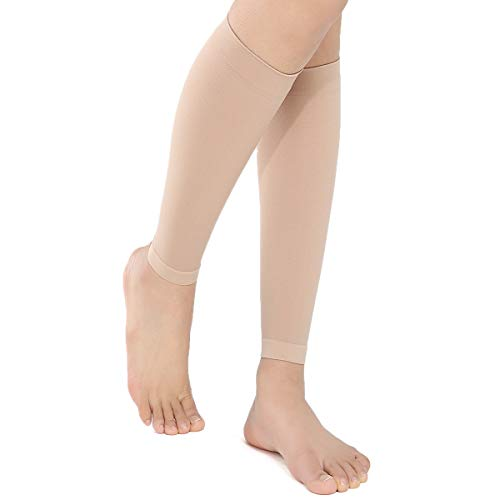 f7e307c493218 Medical Calf Compression Sleeves - Firm Support for Sports, Flight Travel,  Shin Splints,