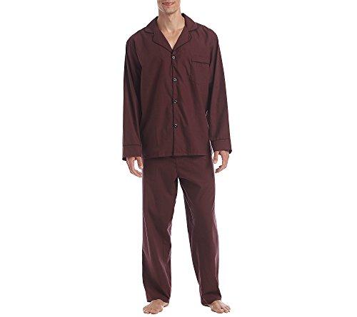 Hanes Men's Big & Tall 2-Piece Pajama Set Burgundy XX-Large